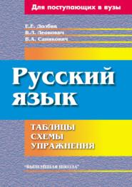Русский язык. Таблицы, схемы, уп… - Е. Е. Долбик и др.