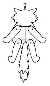 Кукла из картона своими руками с нитками