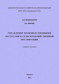 - Управление производственными ресурсами в сельскохозяйственной организации: учебное пособие