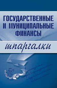 Отсутствует - Государственные и муниципальные финансы