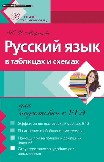 Скачать книгу Н. И. Миронова Русский язык в таблицах и схемах для подготовки к ЕГЭ