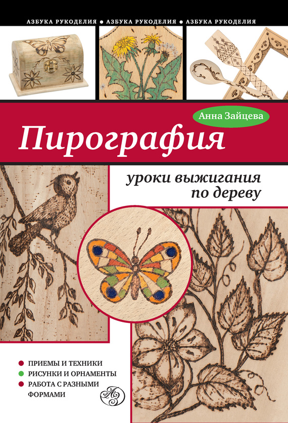 Анна Зайцева Пирография: уроки выжигания по дереву анна зайцева лепим из пластилина веселые уроки