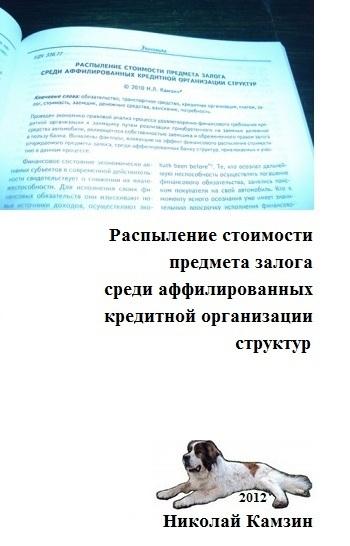 бесплатно Николай Камзин Скачать Распыление стоимости предмета залога среди аффилированных кредитной организации структур