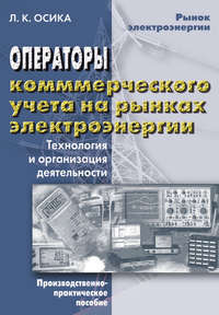 Л. К. Осика - Операторы коммерческого учета на рынках электроэнергии. Технология и организация деятельности