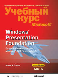 Стэкер, Мэтью А.  - Windows Presentation Foundation. Разработка на платформе Microsoft .NET Framework 3.5