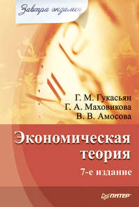 Амосова, Вера Владимировна  - Экономическая теория