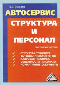 Волгин, Владислав  - Автосервис. Структура и персонал: Практическое пособие