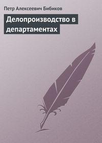 Бибиков, Петр  - Делопроизводство в департаментах