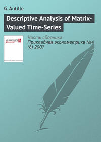 Antille, G.  - Descriptive Analysis of Matrix-Valued Time-Series