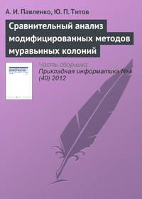Павленко, А. И.  - Сравнительный анализ модифицированных методов муравьиных колоний