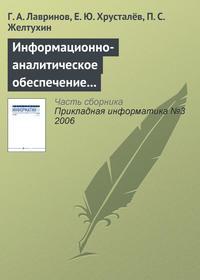 Лавринов, Г. А.  - Информационно-аналитическое обеспечение создания наукоемкой продукции