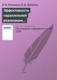 Мялицын, В. В.  - Эффективность параллельной реализации алгоритмов помехоустойчивого кодирования Рида-Соломона