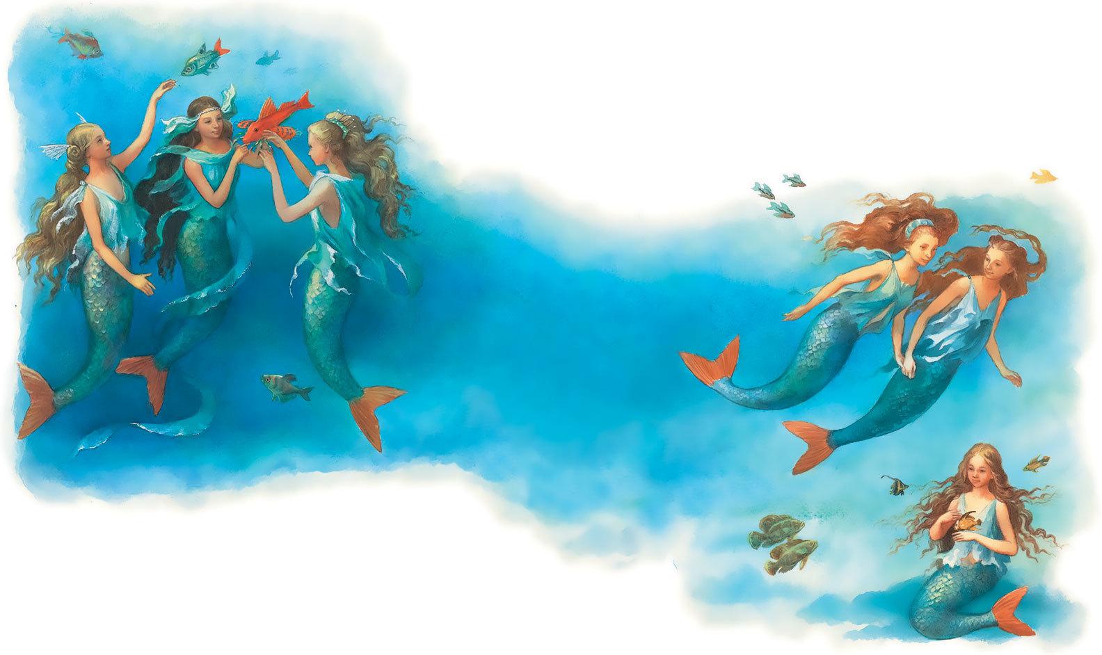сказки про русалочек в картинках творожника