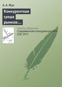 - Конкурентная среда рынков: институционально-экономические характеристики