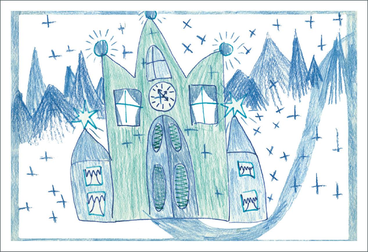 Кино, замок снежной королевы картинки как нарисовать поэтапно