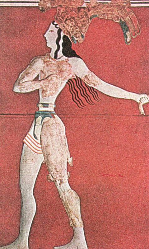 Фрески кносского дворца на крите