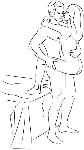 секс возле стены: