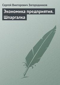 Загородников, Сергей Викторович  - Экономика предприятия. Шпаргалка