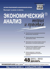 Отсутствует - Экономический анализ: теория и практика &#8470 48 (351) 2013