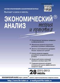 Отсутствует - Экономический анализ: теория и практика &#8470 28 (331) 2013
