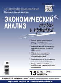 Отсутствует - Экономический анализ: теория и практика № 15 (366) 2014