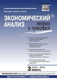 Отсутствует - Экономический анализ: теория и практика № 3 (354) 2014