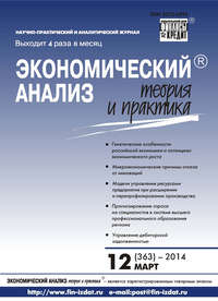 Отсутствует - Экономический анализ: теория и практика &#8470 12 (363) 2014