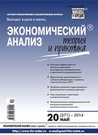 Отсутствует - Экономический анализ: теория и практика № 20 (371) 2014