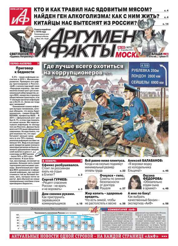 Редакция журнала АиФ. Про Кухню Аргументы и факты 50-2012