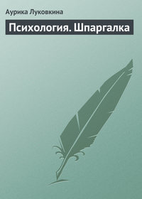 Луковкина, Аурика  - Психология. Шпаргалка