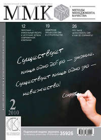 Отсутствует - Методы менеджмента качества № 2 2010