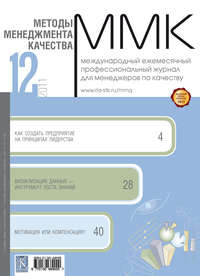 Отсутствует - Методы менеджмента качества &#8470 12 2011