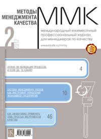 Отсутствует - Методы менеджмента качества № 2 2012