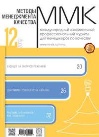 Отсутствует - Методы менеджмента качества &#8470 12 2012