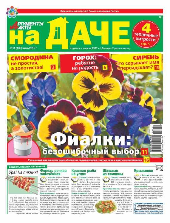 Аргументы и факты. На даче. №11/2015 от ЛитРес