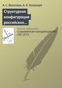 Веселова, А. С.  - Структурная конфигурация российских многонациональных компаний: эмпирическое исследование влияния ситуационных факторов