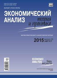Отсутствует - Экономический анализ: теория и практика № 30(429) 2015