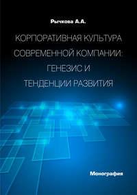 Рычкова, А. А.  - Корпоративная культура современной компании. Генезис и тенденции развития