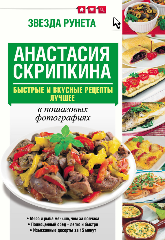 Скачать Анастасия Скрипкина бесплатно Быстрые и вкусные рецепты. Лучшее