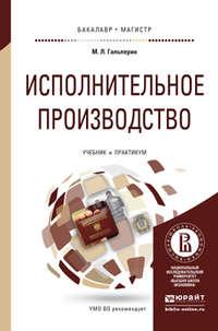 Гальперин, Михаил Львович  - Исполнительное производство. Учебник и практикум для бакалавриата и магистратуры