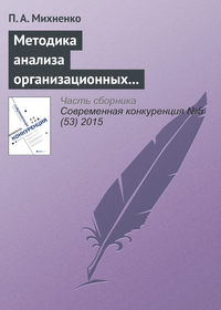 Михненко, П. А.  - Методика анализа организационных конфигураций