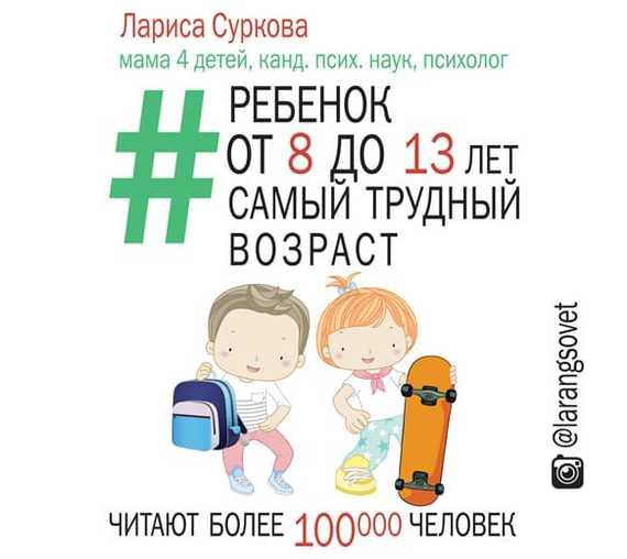 Лариса Суркова Ребенок от 8 до 13 лет: самый трудный возраст