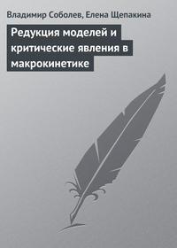 Соболев, Владимир  - Редукция моделей и критические явления в макрокинетике