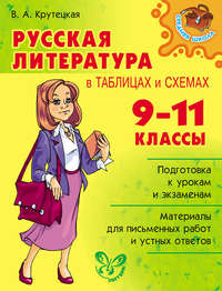 Крутецкая, Валентина  - Русская литература в таблицах и схемах. 9-11 классы