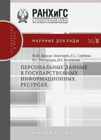 Брауде-Золотарев, Михаил  - Персональные данные в государственных информационных ресурсах
