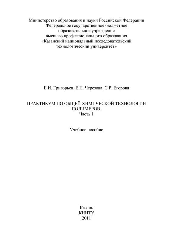 Е. И. Григорьев Практикум по общей химической технологии полимеров. Часть 1