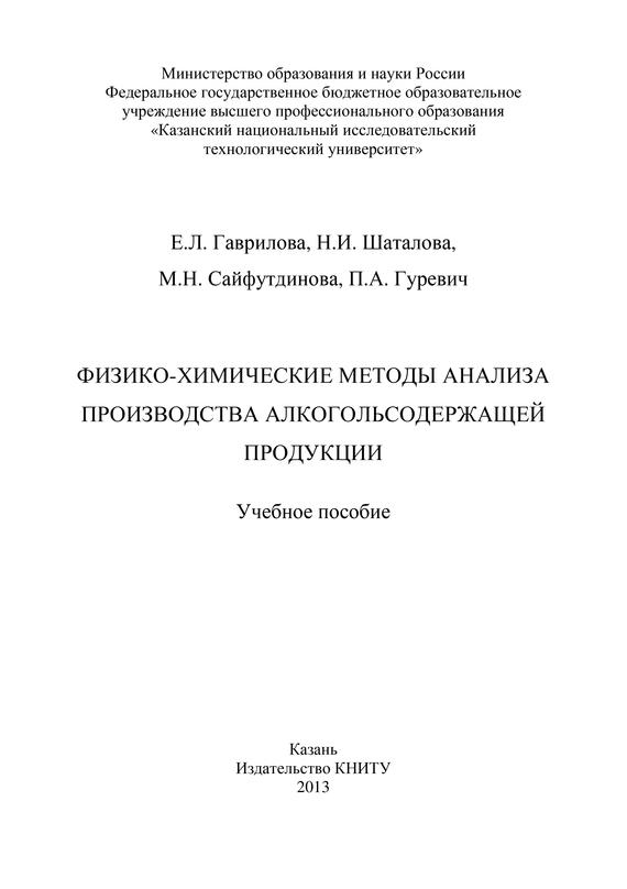П. Гуревич Физико-химические методы анализа производства алкогольсодержащей продукции