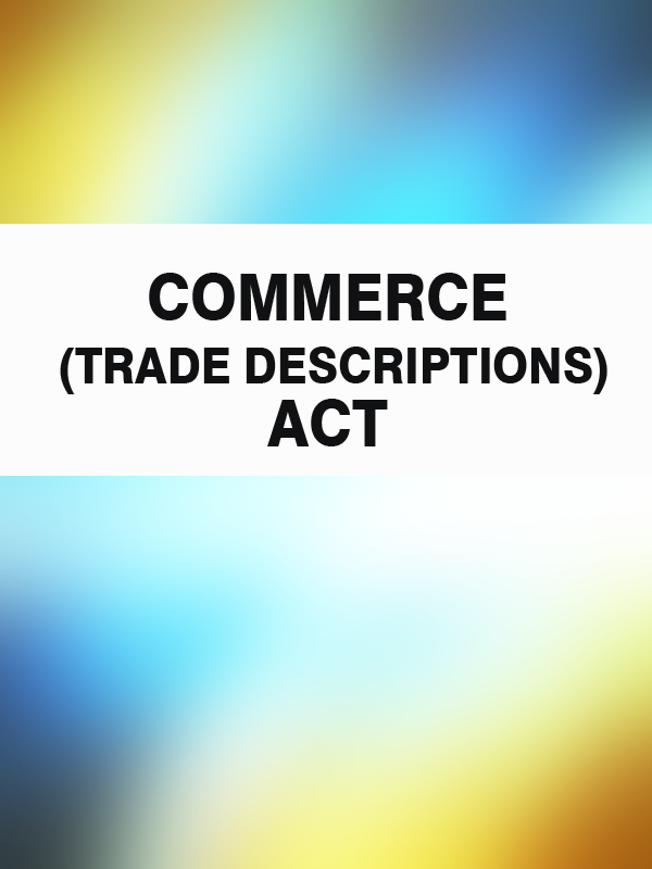 commerce-trade-descriptions-act