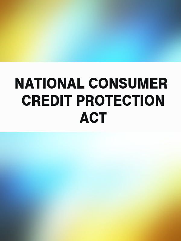 Australia National Consumer Credit Protection Act ISBN: 9785392086351