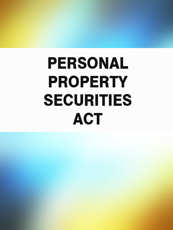 Australia Personal Property Securities Act